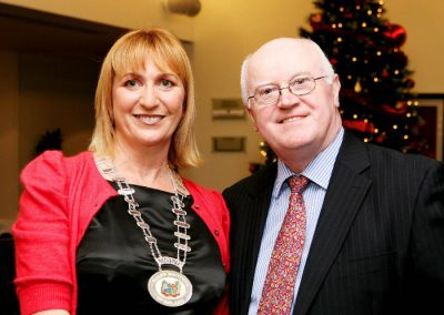 Eleanor O'Kelly Lynch, Chairperson of the Sales Institute of Ireland with Tony O'Connell Photographer at the Launch of the Cork Business Event Guide at the CLarion Hotel. Picture, Europhoto.