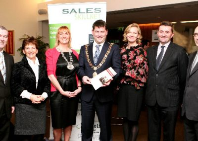 At the Clarion Hotel where the Lord Mayor Cllr Dara Murphy launched the Sales Institute of Ireland, Cork Business Event Guide in the company of SII Members L to R., Finbarr Lehane, Mary Harney, Eleanor O'Kelly Lynch, Chairperson SII, Niamh O'Driscoll, Karl O'Flanagan and Ger Dowling. Picture, Tony O'Connell Photography.