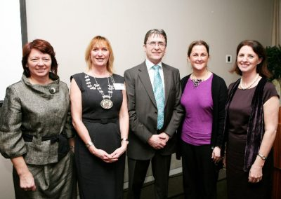 At the Clarion Hotel for the Sales Institute of Ireland Breakfast Seminar were L to R., Sandra Maher, Network Cork, Eleanor O'Kelly lynch President Sales Institute of ireland Munster Region, Dermot Mc Conkey MD of dermot Mc Conkey Training & Development Ltd, Norina o'Callaghan, Chairperson Marketing Institute of Ireland and Doreen Freeman, Chairperson CIPD. Picture, Tony O'Connell Photography.