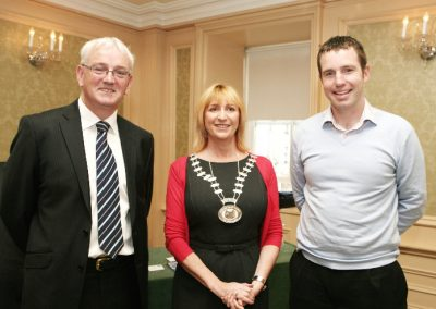 At the Imperial Hotel for the Sales Institute of Ireland Business Breakfast were L to R., John O'Doherty Regional Director AIB, Eleanor O'Kelly Lynch, Chairperson SII and Kevin Clancy, MOTIV8, Guest Speaker. Picture, Tony O'Connell Photography.