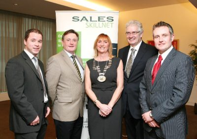 At the Clarion Hotel for the Sales Institute of Ireland Breakfast Seminar were L to R.,Liam Tracey, Goldstar Telecom, Aidan Mc Carthy, File One, Eleanor O'Kelly Lynch, President S.I.I, Pat Humphreys, Management Services Ltd and Shane Hanrahan, Oak Recruitment. Picture, Tony O'Connell Photography.