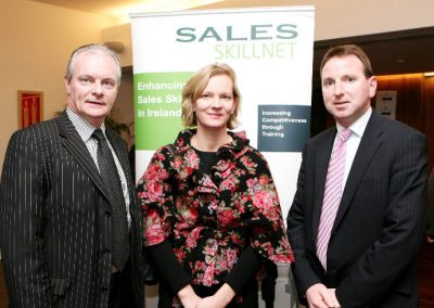 At the Clarion Hotel for the launch of the Cork Business Event Guide by the Sales Institute of Ireland, Cork Region, L to R.,Aidan Forde, Irish Examiner, Niamh O'Driscoll, Fastnet Recruitment and Dermot Carbery, Internal Solutions. Picture, Tony O'Connell Photography.