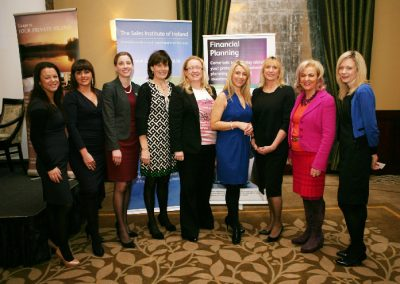 "Attending the Sales Institute of Ireland "" Sales Skills Series "" at the Fota Island Resort Hotel were L to R., Onoir O'Brien, Red FM, Grainne Murphy, Red FM, Karen Fleming, Hayfield Manor Hotel, Ber Browne, College of Commerce, Joy Henerbry, Cork 96FM C103, Sandra Murphy, ISS, Eleanor O'Kelly Lynch, Golden Apple Training, Miriam Kiernan, Sonas and Maria Horgan, Rubicon Centre. Picture, Tony O'Connell Photography."