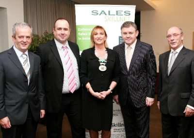 At the Clarion Hotel for the Sales Institute of Ireland Breakfast Meeting were L to R., Hugh O'Brien AIB, Enda Mc Donald 3 Ireland, Eleanor O'Kelly Lynch, Golden Apple Training and Chairperson of SII Munster Branch, Guest Speaker Dave Malone, Evolve Training and Ger Dowling. Picture, Tony O'Connell Photography.