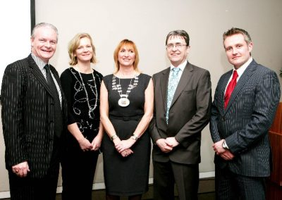 At the Clarion Hotel for the Sales Institute of Ireland Breakfast Seminar were L to R., Aidan Forde, irish Examiner, Niamh O'Driscoll S.I.I, Eleanor O Kelly Lynch, President S.I.I, Dermot Mc Conkey, (Guest Speaker) Dermot Mc Conkey, Dermot Mc Conkey Training & Development Ltd and Shane Hanrahan, Oak Recruitment. Picture, Tony O'Connell Photography.