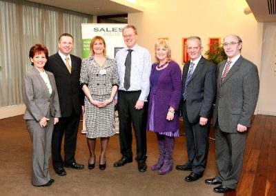 At the Clarion Hotel for the Sales Institute of Ireland Cork Area Business Breakfast were L to R., Mary Harney, Health & Safety Training, Ashley Hennessy, V.C, Marketing Institute Cork Area, Eleanor O'Kelly Lynch, Chairperson SII, Walter Bradley, Dale Carnegie ireland,, Miriam Kiernan, Principal Sonas, Hugh Griffin, AIB and Ger Dowling SII. Picture, Tony O'Connell Photography.