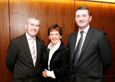 At the Clarion Hotel for the Launch of the Cork Business Event Guide by the Sales Institute of Ireland,  were L to R., Finbarr Lehane, Mary Harney and Karl O'Flanagan of the SII. Picture, Tony O'Connell Photography.